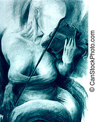 Violin teacher - Illustartion of violin teacher - I am...