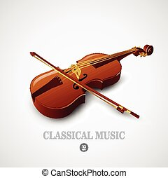 Violin. Vector illustration