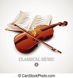 Violin. Vector illustration