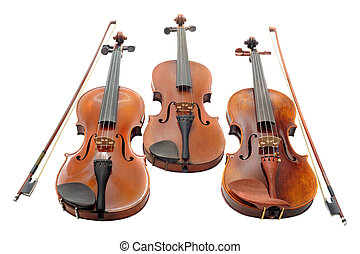 Violines, tres