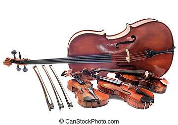 violines, violoncelo