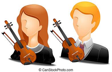 Violinist Avatars