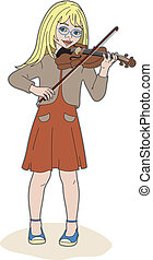 violinist - Girl with her violin