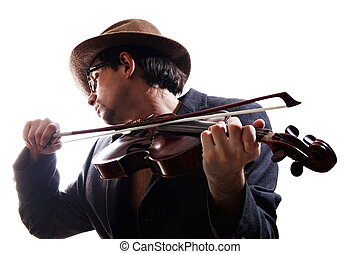 violinist playing the violin