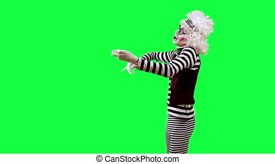 Violinist - Mime playing the violin. This clip is pre-matted...