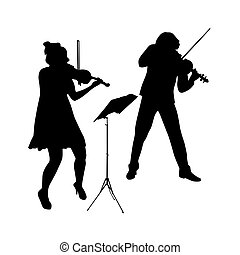 violinist vector illustration