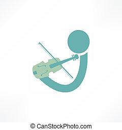 violinista, icona