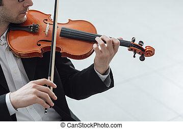 violiniste, solo, doué, performance