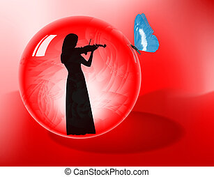 violiniste, sphère