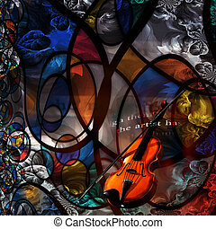 violino, arte moderna, composição