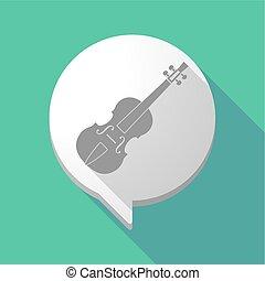 violino, balloon, cômico, sombra, longo