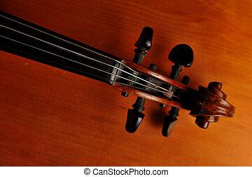 violino, cima fim
