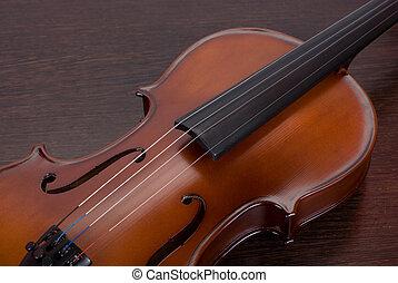 violino, closeup