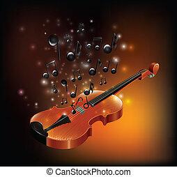 violino, con, melodia