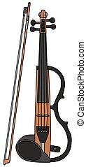 violino, elétrico