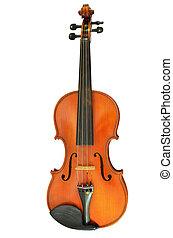 violino, isolado, branco, fundo