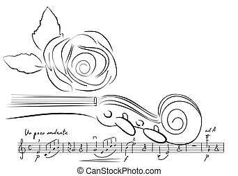 violino, linhas, rosa