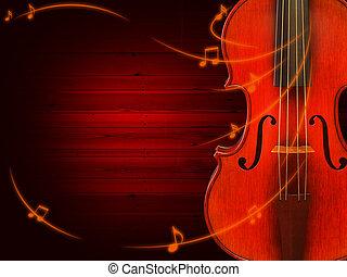 violino, música, fundo
