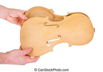 violino, parti, assamble
