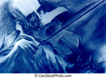 violino, professor