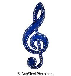 violino, segno, chiave, musica