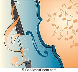 violino, tecla