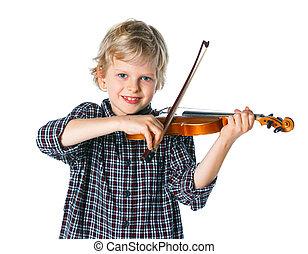violist, jongen, weinig; niet zo(veel)