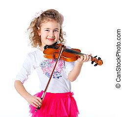 violist, meisje, weinig; niet zo(veel)