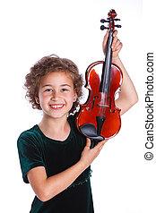 violist, weinig; niet zo(veel)