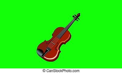 violon, écran, vert, isolé, jouer