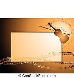 violon, cadre