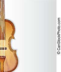 violon, fond