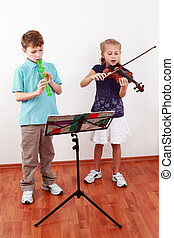 violon, gosses, jeu cannelure