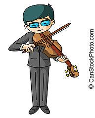 violon, joueur