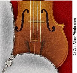 violon, musique, fond