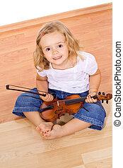 violon, petite fille