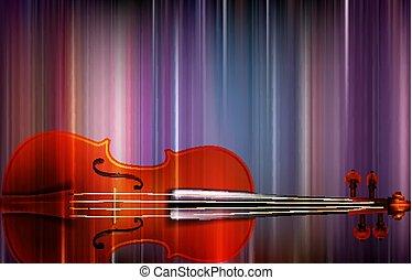 violon, résumé, musique, fond, barbouillage