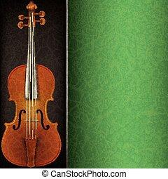 violon, résumé, musique, fond
