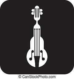 violon, vecteur, icône