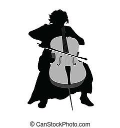 violoncell, flicka