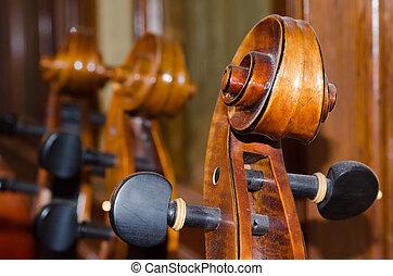 violoncello, detail