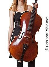 violoncello, spelend