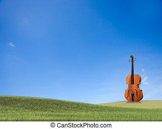 violoncello, vrijstaand