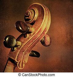 violoncelo, vendimia, plano de fondo
