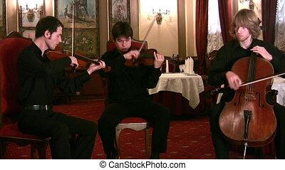 violonistes, et, violoncellist