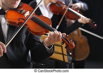 Violonistes, musique,  concert, classique