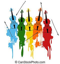 violons, fond