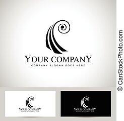 viool, concept, logo