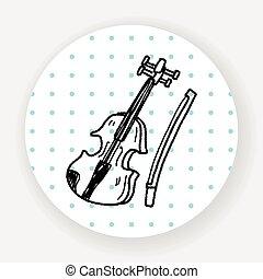 viool, doodle