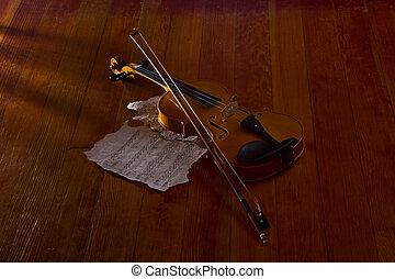 viool, muzieknoten